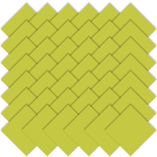Moda Bella Solids Chartreuse Charm Pack 5