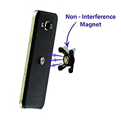 QBZ Accessories MOBIFIXBLK Super Grip Magnetic Universal Mobile Holder for all Smartphones(Black)