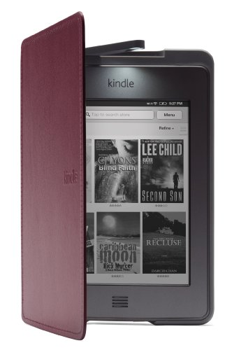 Kindle Touch Lighted Leather Cover, Purple
