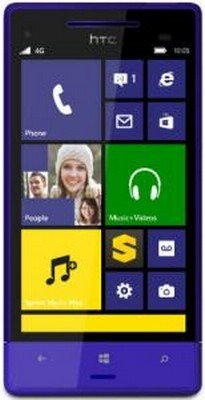 "Htc 8Xt - Windows Phone - Cdma - 4G - 8 Gb - 4.3"" - California Blue - Sprint Nextel"