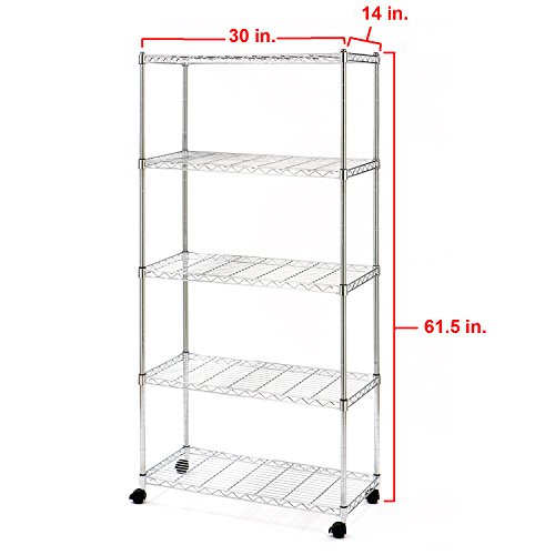 metal shelving unit classics standing shelf holds wire. Black Bedroom Furniture Sets. Home Design Ideas