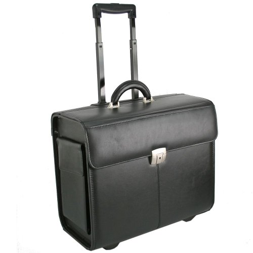 Dermata Pilotenkoffer Trolley Leder 45 cm Laptopfach