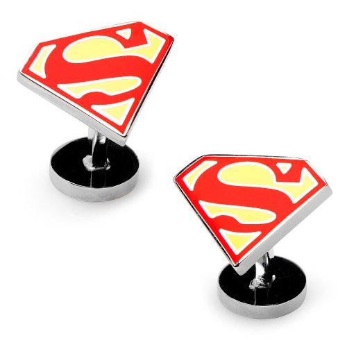 DC Comics Originals Enamel Superman Cufflinks Cuff Links