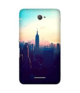 New York Empire State Printed Back Cover Case For Sony Xperia E4