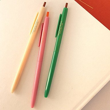 LWW Color del caramelo Press Tipo Gel Pen (3 PCS Radnom color)