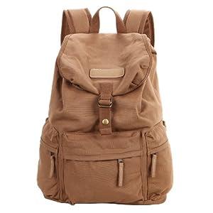 koolertron Canavas DSLR SLR Kamera Tasche Vintage Schultasche Rucksack Retro Tasche Backpack für Outdoor Sports (gelb)