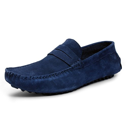 BACCA-BUCCI-MEN-BLUE-SUEDE-LEATHER-LOAFERS
