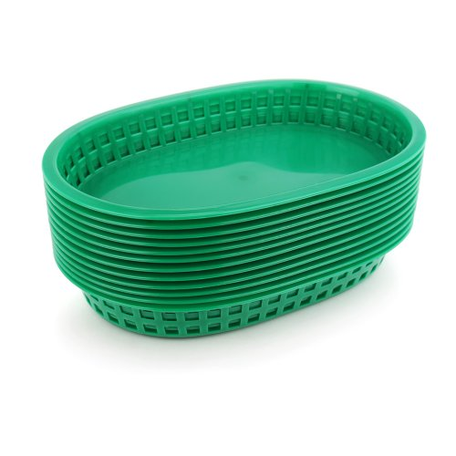 New Star 44034 Fast Food Baskets, 10.5 by 7-Inch, Green, Set of 36