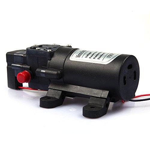 Tabstore Dc 12V 60W 5L/Min 0.8Mpa Micro Diaphragm High Pressure Water Pump Automatic Switch Built-In Intelligent Overvoltage Protection System