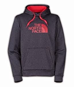 The North Face Surgent Hoodie Men's Asphalt Grey Heather/TNF Red L