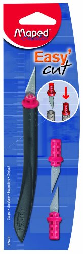 Maped Easy Cut Scalpel for Crafting, Scrapbooking, with 3 Replacement End-Pieces (009400)