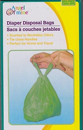 Diaper Disposal Bags - Fresh Baby Powder Scent - BPA Free (4 Pack)