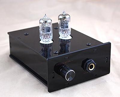 Little bear P2 HiFi BLACK panel 6J1 valve tube headphone amplifier amp