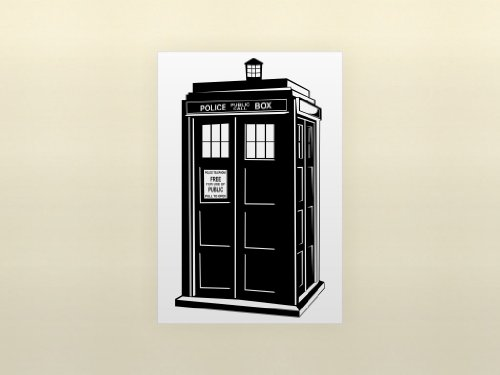 phone booth tardis doctor who vinyl wall art decal stickers decor graphics. Black Bedroom Furniture Sets. Home Design Ideas