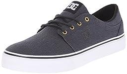 DC Trase TX SE Unisex Skate Shoe, Black/Gunmetal/White, 9 M US