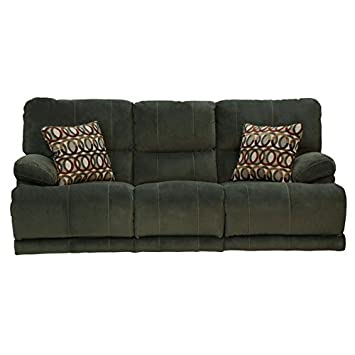 Catnapper Riley Polyester Reclining Sofa in Charcoal