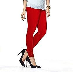 Liana Women's Cotton Legging(RFLC03_Red_FreeSize)