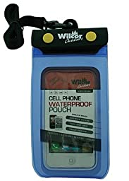 Wilcor - Universal Waterproof Cell Phone Pouch Case - Great for Kayaking, Camping, Fishing - 1 Pack