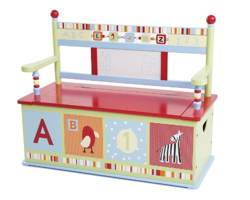Levels of Discovery Alphabet Soup Toy Box Bench - 1