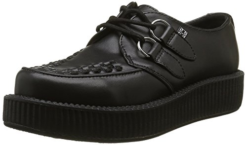 T.U.K.Viva Mondo Creeper - Sneaker Unisex - Adulto , Nero (Noir (Satin Black)), 39