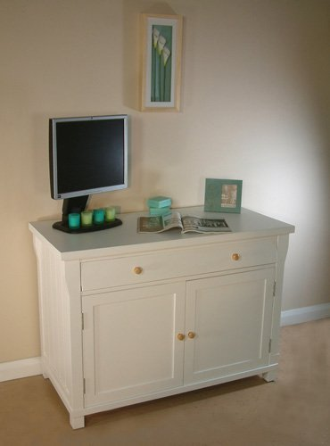 Hampton Hidden Home Office Solid Ash White Desk
