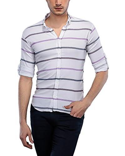 Philip Loren Camisa Hombre Blanco / Lila