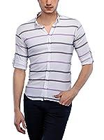 Philip Loren Camisa Hombre (Blanco / Lila)
