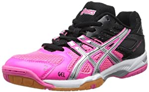 ASICS Women's GEL-Rocket 6 Volleyball Shoe,Pink/Silver/Black,6.5 M US