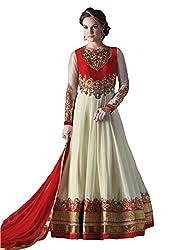 FashionKhoj Semi-Stitched Georgette Floor length Anarkali suit set