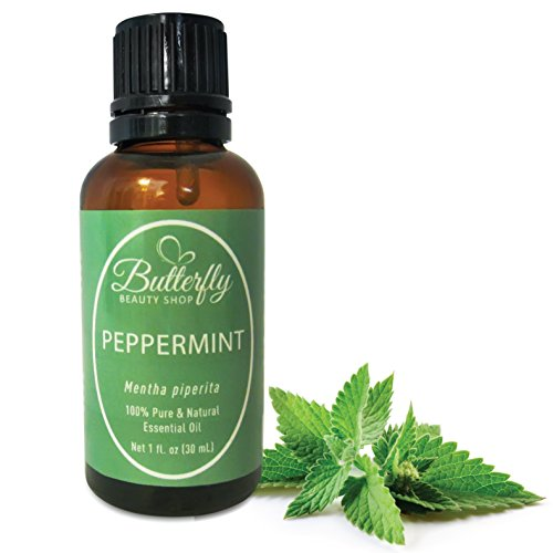 Peppermint Essential Oil (100% Pure Mentha Piperita). Common Uses: Colds, Congestion, Fever Reducer, Headache Relief, Joint Therapy, Mouthwash, Rodent Repellant. Tips & Uses Guide Included. (30mL/1oz)