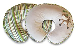 Boppy Pillow with Luxe Slipcover, Monkey