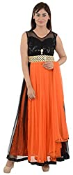 Wedding Pearls Women's Dress (Orange and Black)