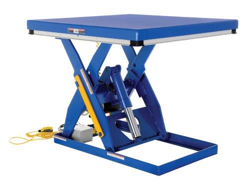 "Vestil Ehlt-4848-3-43 Electric Hydraulic Scissor Lift Table, 3000 Lbs Capacity, 48"" Length X 48"" Width Platform, 8"" - 43"" Height Range"