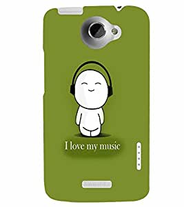 PrintVisa Music Cute Quotes 3D Hard Polycarbonate Designer Back Case Cover for HTC One X