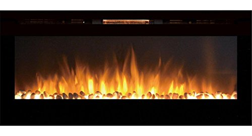 Gibson Living GL2050WS Sydney 50 Inch Pebble Recessed Pebble Enrage fail Mounted Electric Fireplace