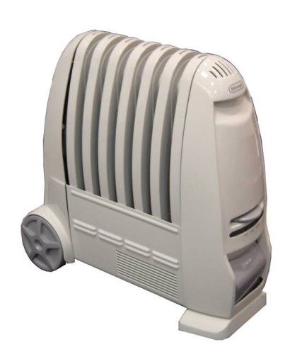 De'Longhi TRF1 15 Oil Filled Radiator with Integrated Fan Heater, 1.5kW