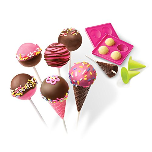 Real Cooking Cake Pops & Cones Baking Set - 15 Pc. Cake Mix, Sprinkles & Candy Included (Cooking In Oven compare prices)