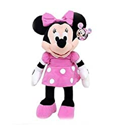 11 Inch Pink Polka Dot Dress Minnie Mouse Plush - Minnie Mouse Stuffed Doll