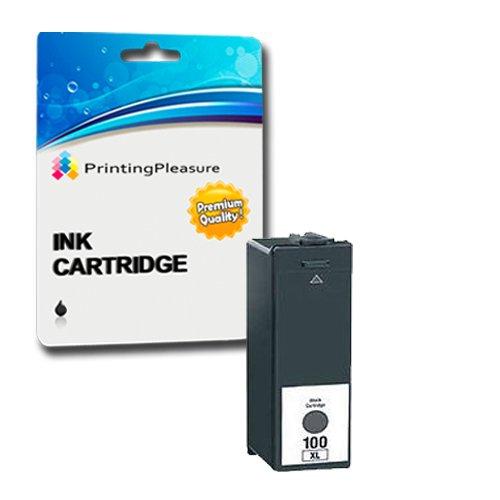 Printing Pleasure - 1 Schwarz Hohe Qualität Tintenpatrone NO.100 kompatibel für Lexmark Drucker Impact S305, Interact S605, S405, Prospect Pro205, Intuition S505, Pinnacle Pro 901, Platinum Pro905, Prestige Pro 805, Prevail Pro 705