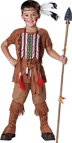 Boys Indian Brave Kids Child Fancy Dress Party Halloween Costume