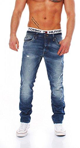 JACK & JONES - JJORTIM ORG SC 110 CAM, Jeans da uomo, blu (blue denim 110), W28 / L34