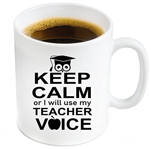 Teacher Coffee Mug 11oz - Funny Coffee Cup for Birthday / Christmas / Appreciation / Retirement Gifts For Teachers - Your Favorite Preschool / Kindergarden / English /Math / Spanish / Music Teachers