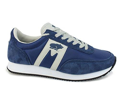 KARHU Albatross sneakers lacci PELLE TESSUTO BLUE LIGHT GREY F802533 38