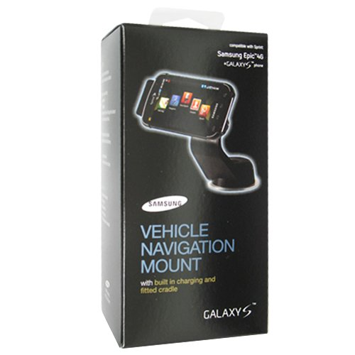 Samsung Vehicle Navigation Mount ECS-M982BEG - Cellular phone charger/holder for car - Samsung SPH-D700 Epic 4G