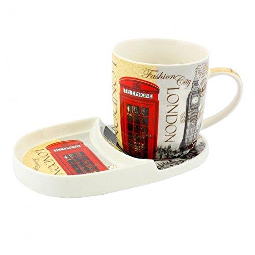 Londres Icônes Snack Assiette et Tasse