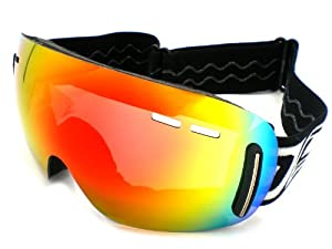 Dirty Dog Goggles 54099 Black and White Drift Goggles Lens Mirrored