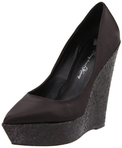 Penny Loves Kenny Women's Siren Black Wedges Heels Y1300 5 UK, 7 US