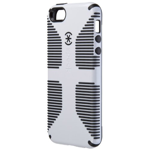Great Sale Speck SPK-A0485 CandyShell Grip Case for iPhone 5 & 5s - AT&T Packaging - White/Black