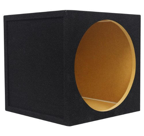 """Rockville Rse12 Single 12"""" 1.1 Cu.Ft. 5/8"""" Mdf Sealed Subwoofer Enclosure Constructed With Grade 'A' Mdf, Made In America Using Only The Highest Quality Materials For The Best Performance And Sound From Your Subs front-269618"""