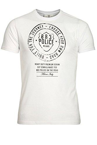 "883 POLICE Heritage T-Shirt | White Medium 38"" Chest"